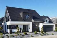 Haustyp Iserlohn, modernes Einfamilienhaus mit Satteldach, modernes ...