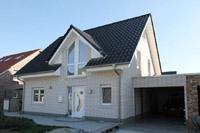 Haustyp Marl NRW, Massivhaus Neubau in NRW, Photovoltaikanlage, Erdwärmepumpe (Geothermie - Sole), Eingangsbereich hochgezogen
